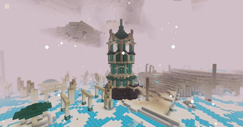 A Quartz Tower inside a quartz flats biome