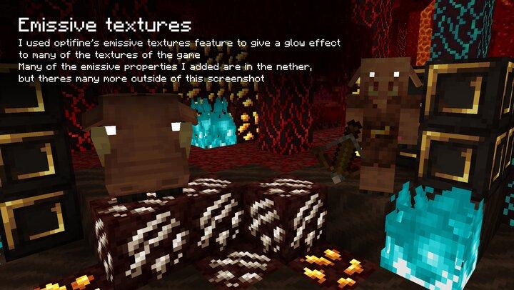 Emissive textures requiere Optifine