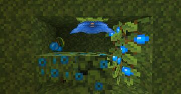 Blue Lush caves Minecraft Texture Pack