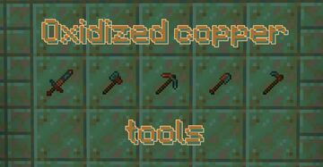 Oxidized copper tools Minecraft Texture Pack