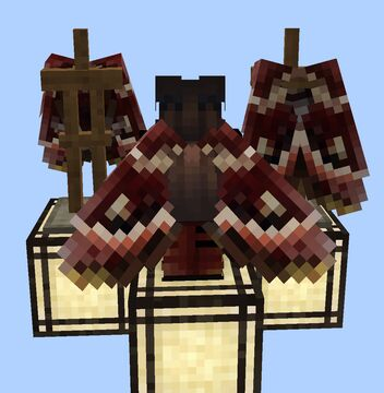 Red and Yellow Moth Wings Elytra Minecraft Texture Pack