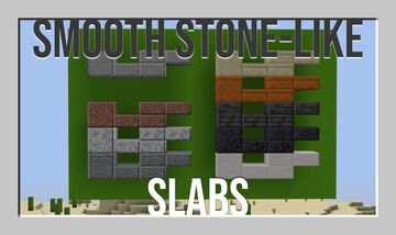 Smooth Stone-Like Slabs Minecraft Texture Pack