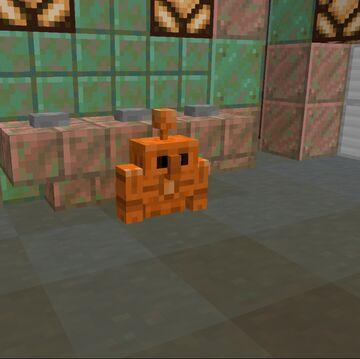 Copper Golem Over Pig Minecraft Texture Pack