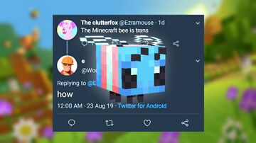 The Minecraft Bee is Trans Minecraft Texture Pack