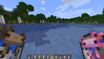 Axolotl Buckets Minecraft Texture Pack