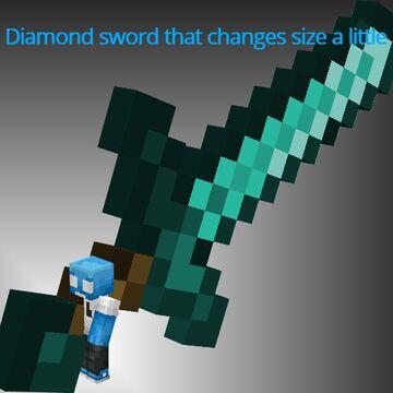 slightly larger diamond sword Minecraft Texture Pack