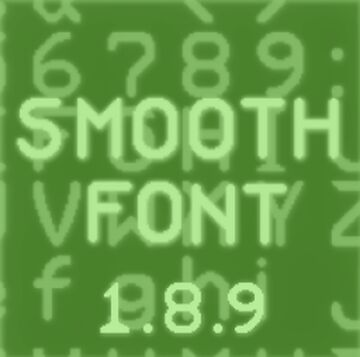 smooth font (1.8.9) Minecraft Texture Pack