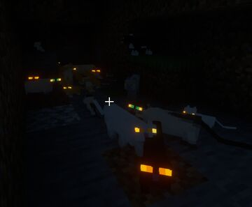 Glowin cat eyes Minecraft Texture Pack
