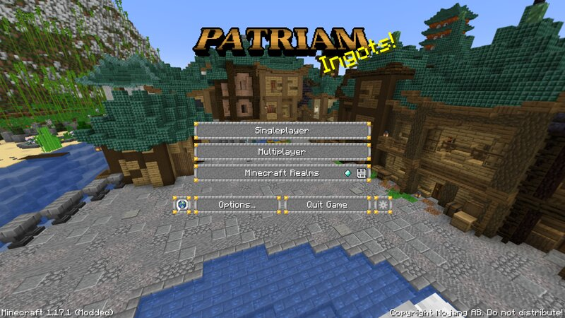 Title screen with panorama from the server itself!