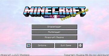 Transgender Pride Main Menu Minecraft Texture Pack