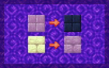 Purpur to Indigo Minecraft Texture Pack