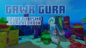 Gawr Gura [COSMETIC ASMR] Java&Bedrock Minecraft Texture Pack