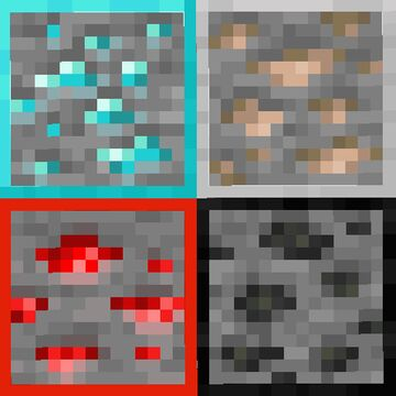 Ore Borders (works with any resource pack) Minecraft Texture Pack