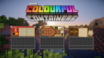 Colourful Containers Dark Mode GUI (Optifine Required) Minecraft Texture Pack