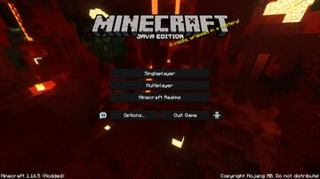 Crimson Forest (v2) - Nether Menu Panorama with Shader! Minecraft Texture Pack