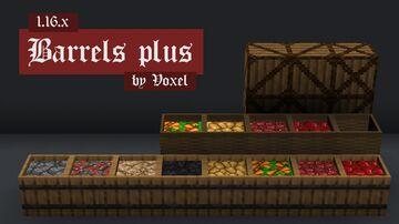 Barrels + Minecraft Texture Pack