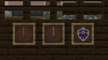 Master Sword and Hylian Shield Minecraft Texture Pack