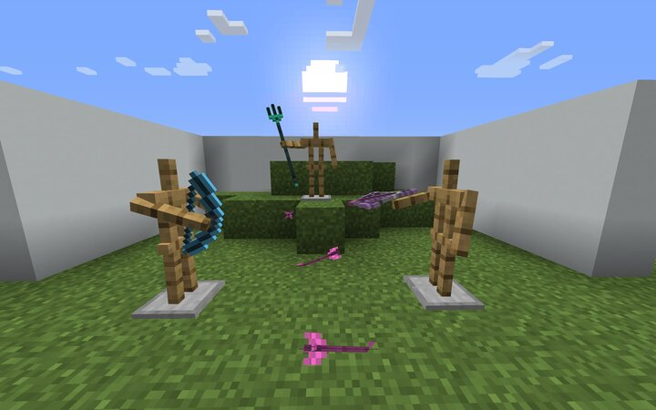 New Bow, Crossbow, Arrow, and Trident