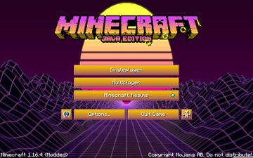 Synthwave Texture Pack (now for 1.17+) Minecraft Texture Pack