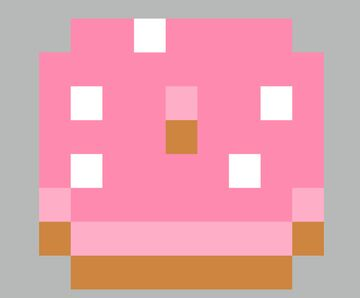Donuts hunger symbol! Minecraft Texture Pack