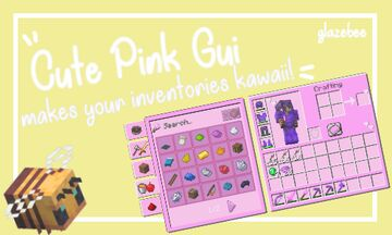 Cute Pink Gui Minecraft Texture Pack