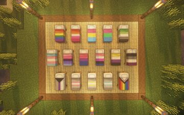 LGBTQ+ Pride Beds Minecraft Texture Pack