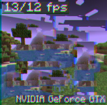 Minecraft, but your PC can't handle it Minecraft Texture Pack
