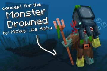 the Legend of the Monster Drowned Minecraft Texture Pack