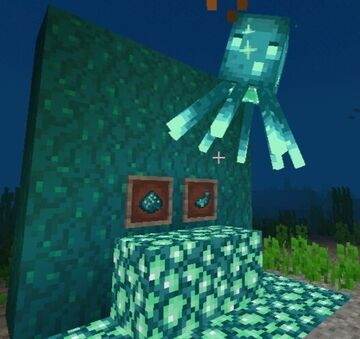Glow squid like glowstone Minecraft Texture Pack