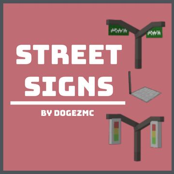 [1.16.5+] Street Signs [3D] - No Optifine Required Minecraft Texture Pack