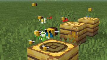 Better Bees!! Bzzzt! Minecraft Texture Pack