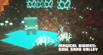 Magical biomes: soul sand valley Minecraft Texture Pack
