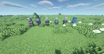 Illager Villagers - Villagers, Zombie Villagers, and Witches Now Have Illager Faces Minecraft Texture Pack