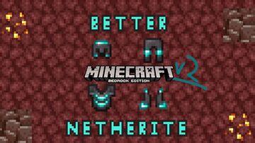 Better Netherite v2 Bedrock Edition (diamond detailing) Minecraft Texture Pack