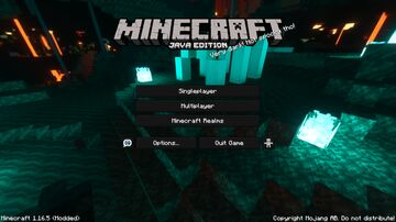 Soul Sand Valley - Nether Panorama with Shader Minecraft Texture Pack