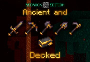 - Ancient and Decked: Gilded Netherite, Bedrock Edition - (READ DESCRIPTION BEFORE DOWNLOADING) Minecraft Texture Pack