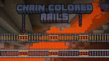 Chain-Colored Rails Minecraft Texture Pack