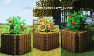 Biome Specific Sweet Berry Bushes Minecraft Texture Pack