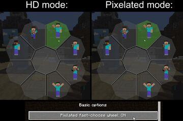 Bedrock-styled EmoteCraft menu Minecraft Texture Pack