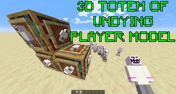 3D Totem of Undying Player Model Minecraft Texture Pack