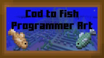 Cod to Fish Programmer Art Minecraft Texture Pack