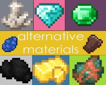 alternative materials (java edition) Minecraft Texture Pack