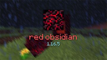Red Obsidian 1.16.5 Minecraft Texture Pack