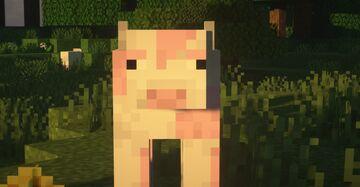 Strawberry milk cows! [!] BEDROCK EDITION [!] Minecraft Texture Pack
