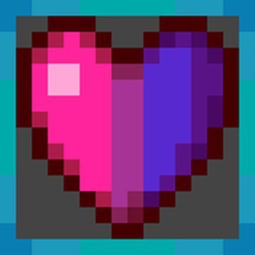 Bi Pride Hearts + LGBT Splash Texts! Minecraft Texture Pack