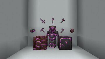 Amethyst Gilded Netherite! (BEDROCK ADDITION) Minecraft Texture Pack