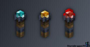 Semi-Iron Torches Minecraft Texture Pack