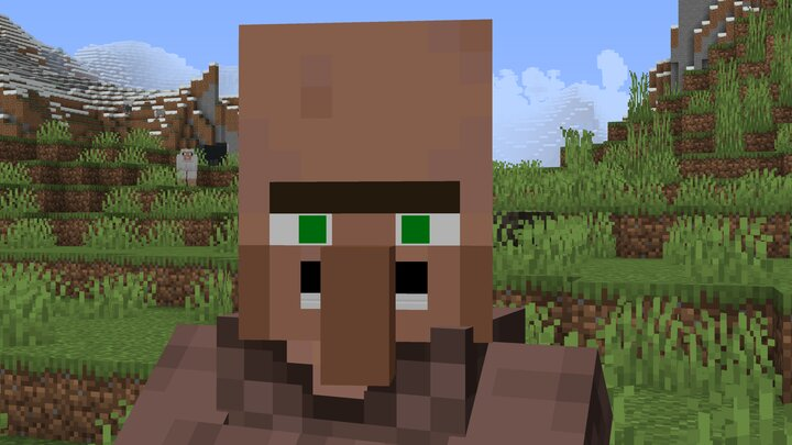 Who might this mustache-endowed villager be?
