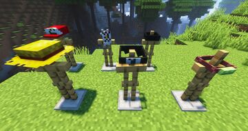 Anime hats and accessories! Minecraft Texture Pack