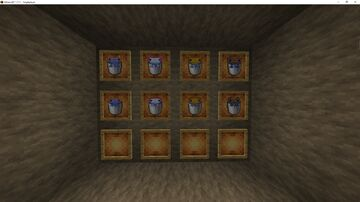 Colored Axolotl Buckets with Babies for Faithful Minecraft Texture Pack